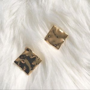 Gold and Bold Square Earrings